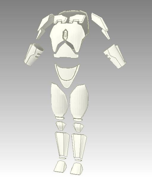 Armor template mandalorian mayhem pinterest for Deathstroke armor template