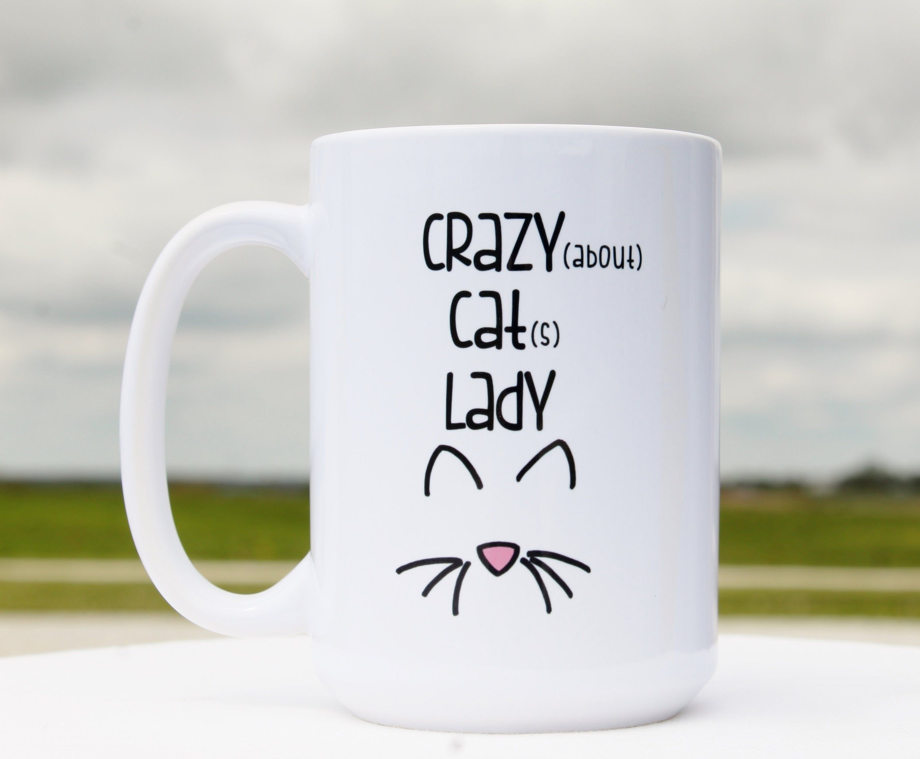 Funny Coffee Mugs,Funny Coffee Cup,Crazy Cat Lady,Crazy About Cats Lady, Funny Coffee Mugs for Women,Funny Coffee Mug Gift for Cat Lovers