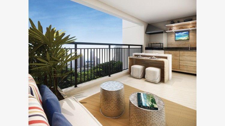 Terraço do apto de 106 m²
