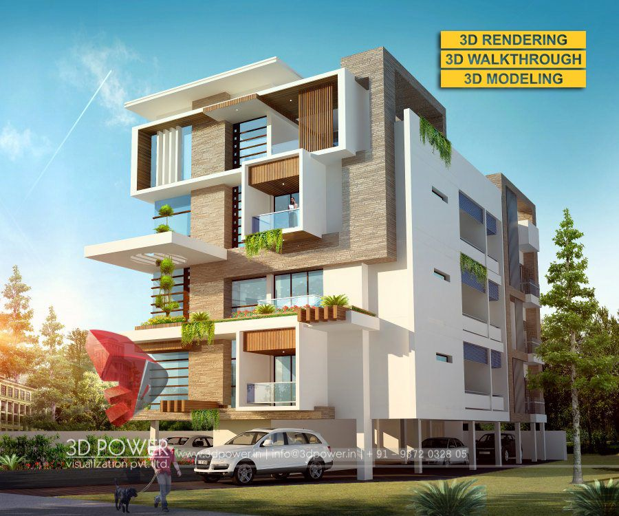 Front Elevation Design Ideas From Architects In Jaipur: The Best Modern 3D Bungalow Elevations By 3D Power
