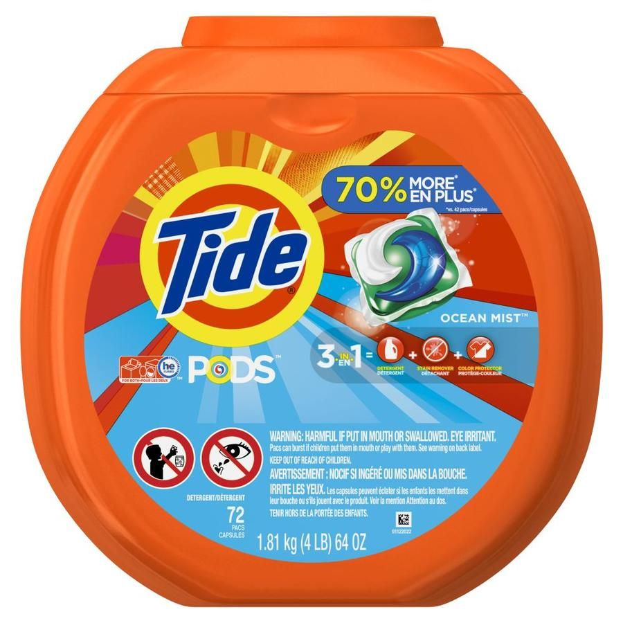 Tide 72 Count Ocean Mist He Laundry Detergent 3700050979 In 2020