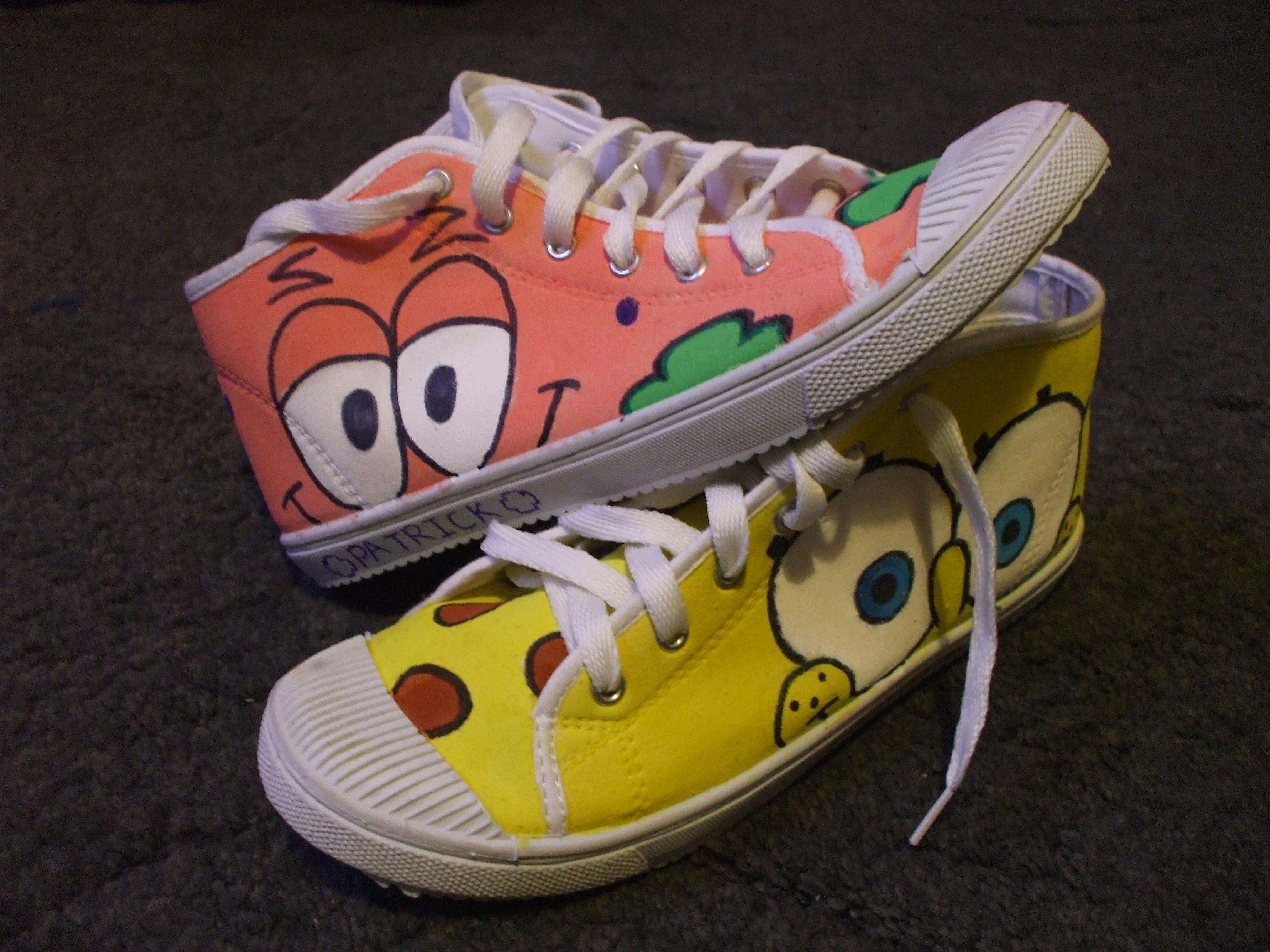Adult Custom Spongebob Converse