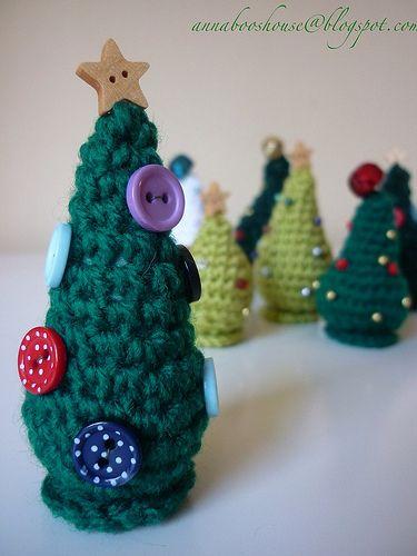 Crochet Christmas trees Crochet patterns Crochet christmas trees