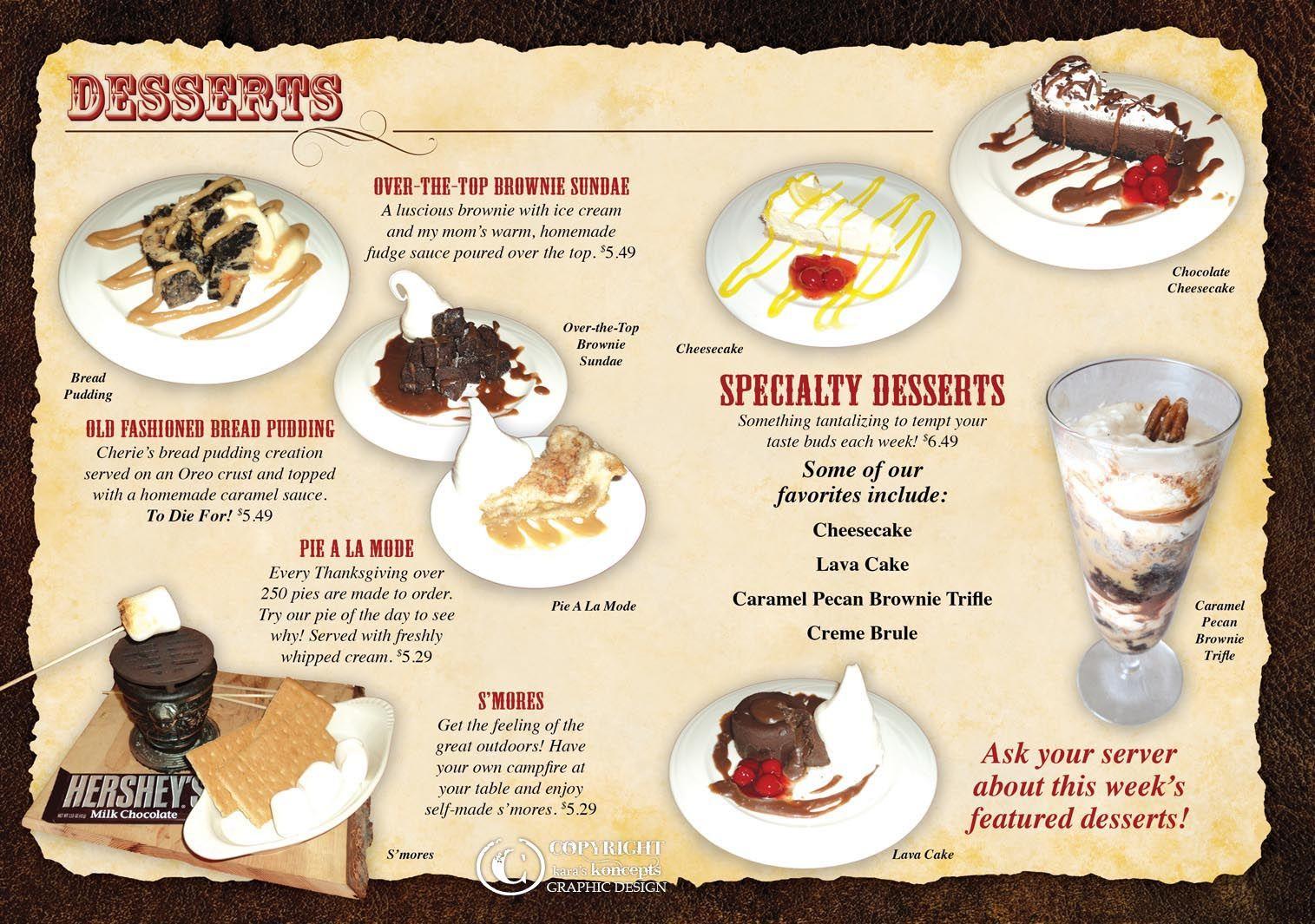 Ice Cream Menu Price Card Homemade Fudge Ice Cream Menu Brownie Sundae