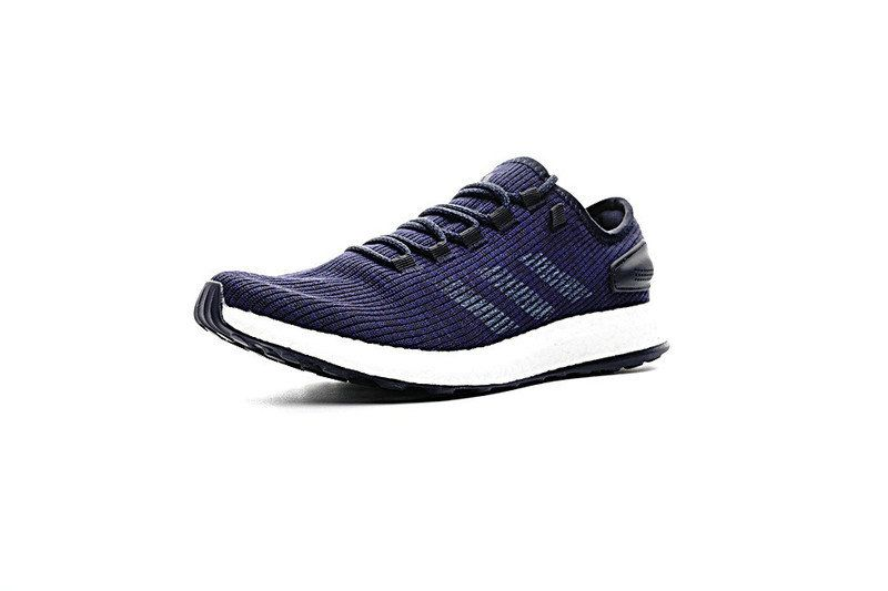 791895fbd June Latest New Arrival adidas Pure Boost 2017 UK Trainers Navy Blue  Footwear White Cheap For