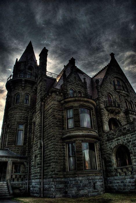 Dusk, Craigdarroch Castle, British Columbia, Canada  photo via louise