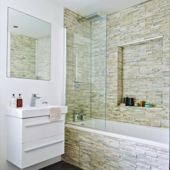 Take A Tour Around This Victorian End Of Terrace House Ideal Home Modern Bathroom Tile Cheap Bathroom Tiles Bathroom Tile Designs