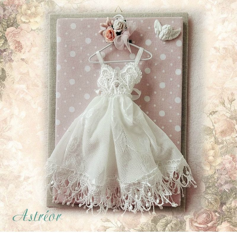Support petite robe shabby chic - Astréor créations | Cards and ...