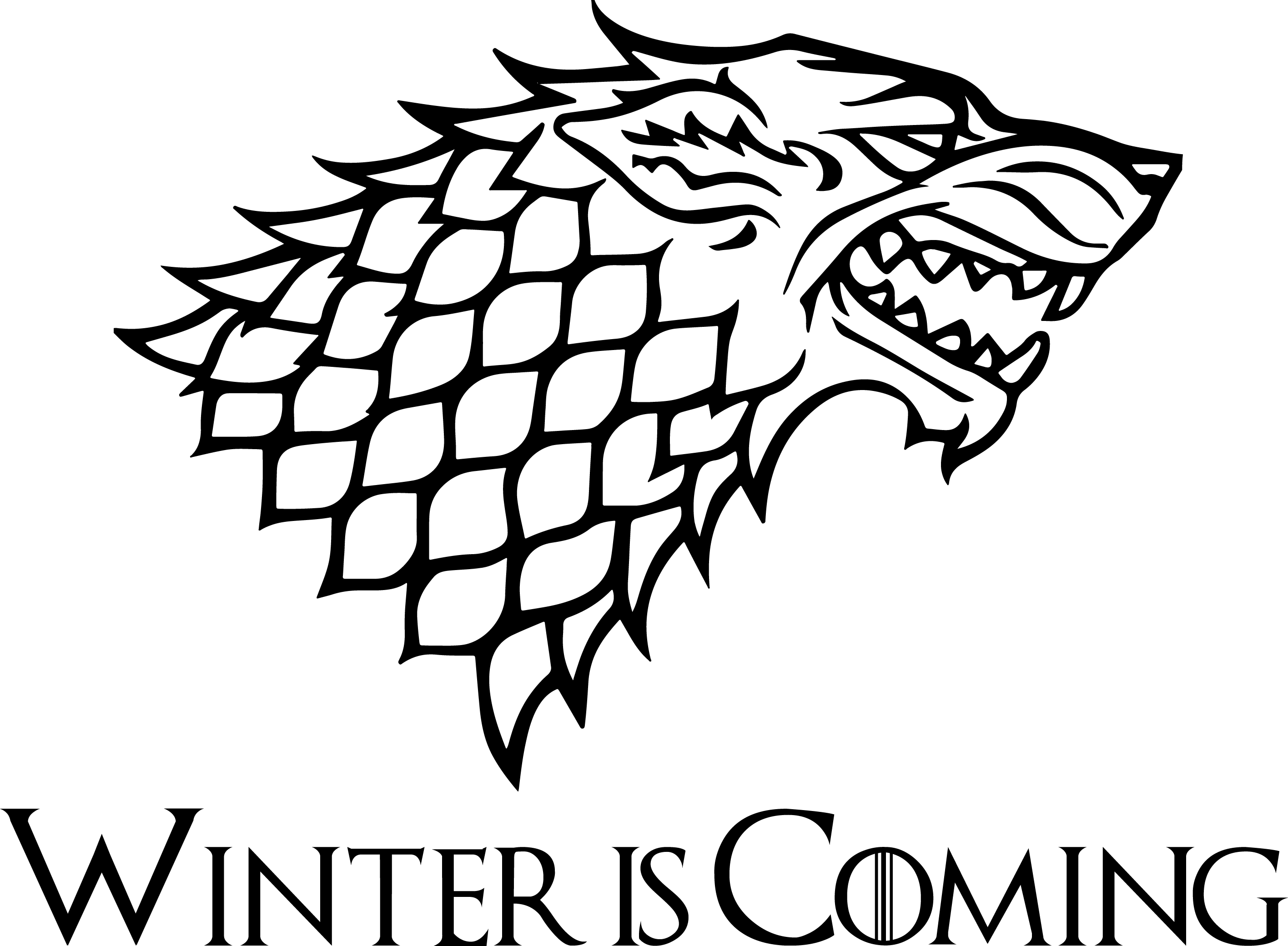 Game of Thrones House Stark Stencil