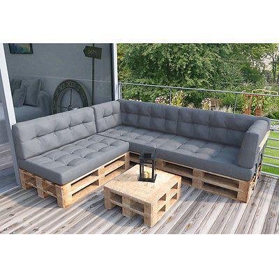 d tails sur vicco lot de coussin pour palette coussin d. Black Bedroom Furniture Sets. Home Design Ideas