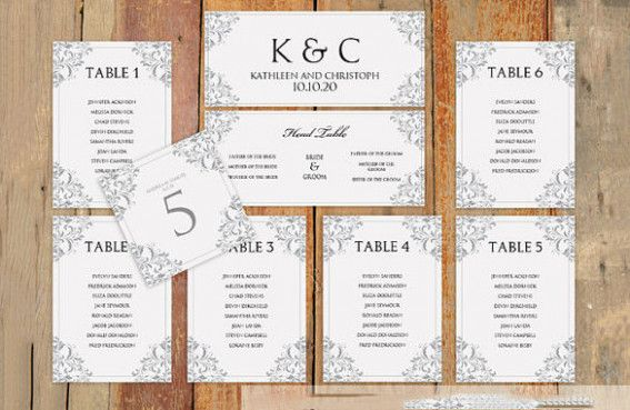 wedding table arrangement template