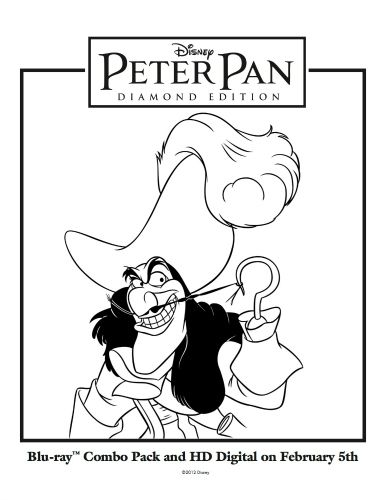 Disney Captain Hook Printable Coloring Sheet Sweeps4bloggers Disney Drawings Disney Coloring Pages Peter Pan Coloring Pages