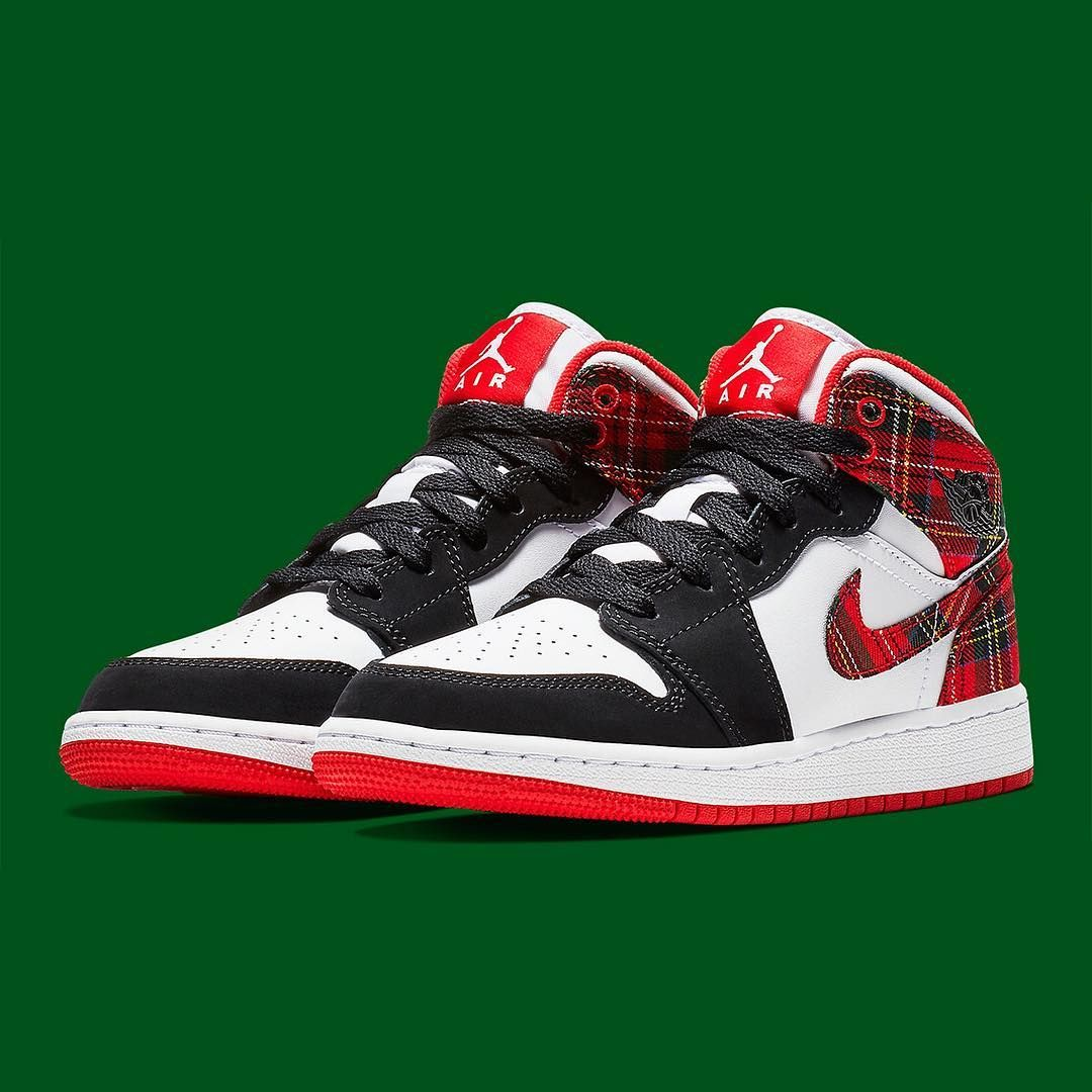 "84283653bdb Sneaker News on Instagram  ""Now all you need is an ugly Christmas sweater.  This Air Jordan 1 Mid is arriving soon in holiday plaid prints."