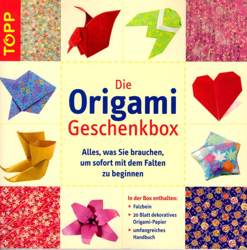 Die origami geschenkbox basteln falten geschenk papier