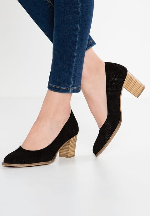 Tamaris Czolenka Black Zalando Pl Shoes Tamaris Heeled Mules