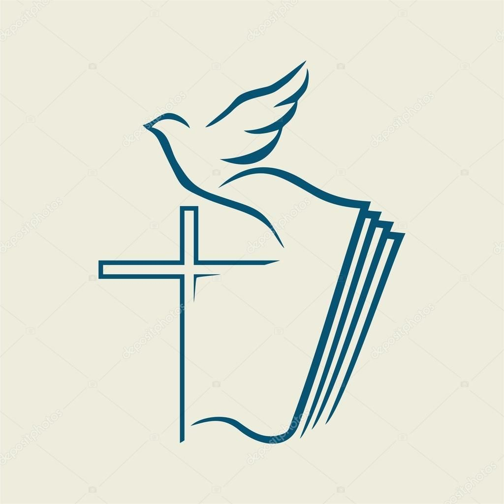 holy spirit cross dove