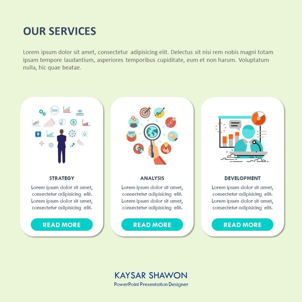 Elegant service slide and template design for presentation