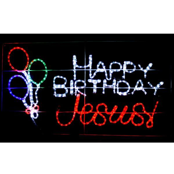 Birthday Photography Lighting: Happy Birthday Jesus Yard Decoration