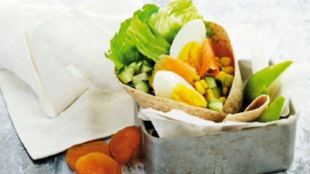 Wraps med æg og røget laks | Femina