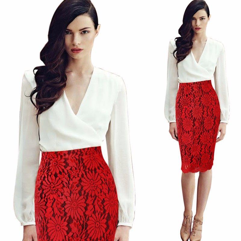 2758a812fcf1 Autumn Winter Women Wool Thick Mini Tight Pencil Skirt Business Casual Black /Wine Package Hip Joker Plus Size S M L XL XXL 3XL(China (…