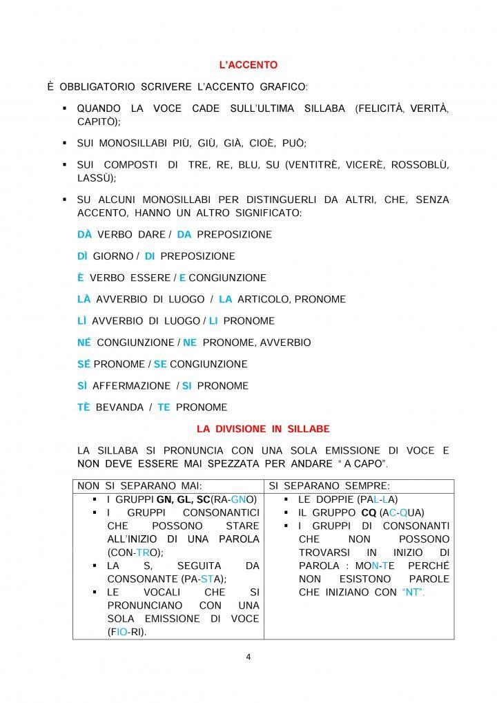 Il Ricorda Regole Di Italiano Classe 5 Lezioni Di Grammatica