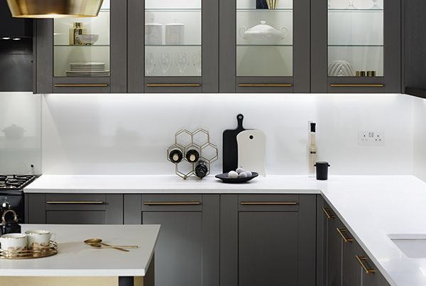 A Shaker Look Kitchen With A Modern Twist The Fairford Graphite - Dark grey matt kitchen