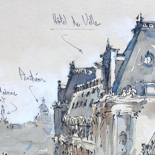 L Hotel De Ville Paris Sketchwalker Sketchcollector Paris