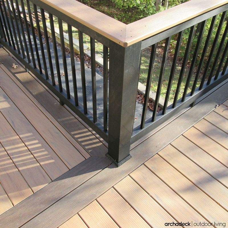 Picture Frame Deck Ideas: Three Colors Are Incorporated Into This Beautiful Deck
