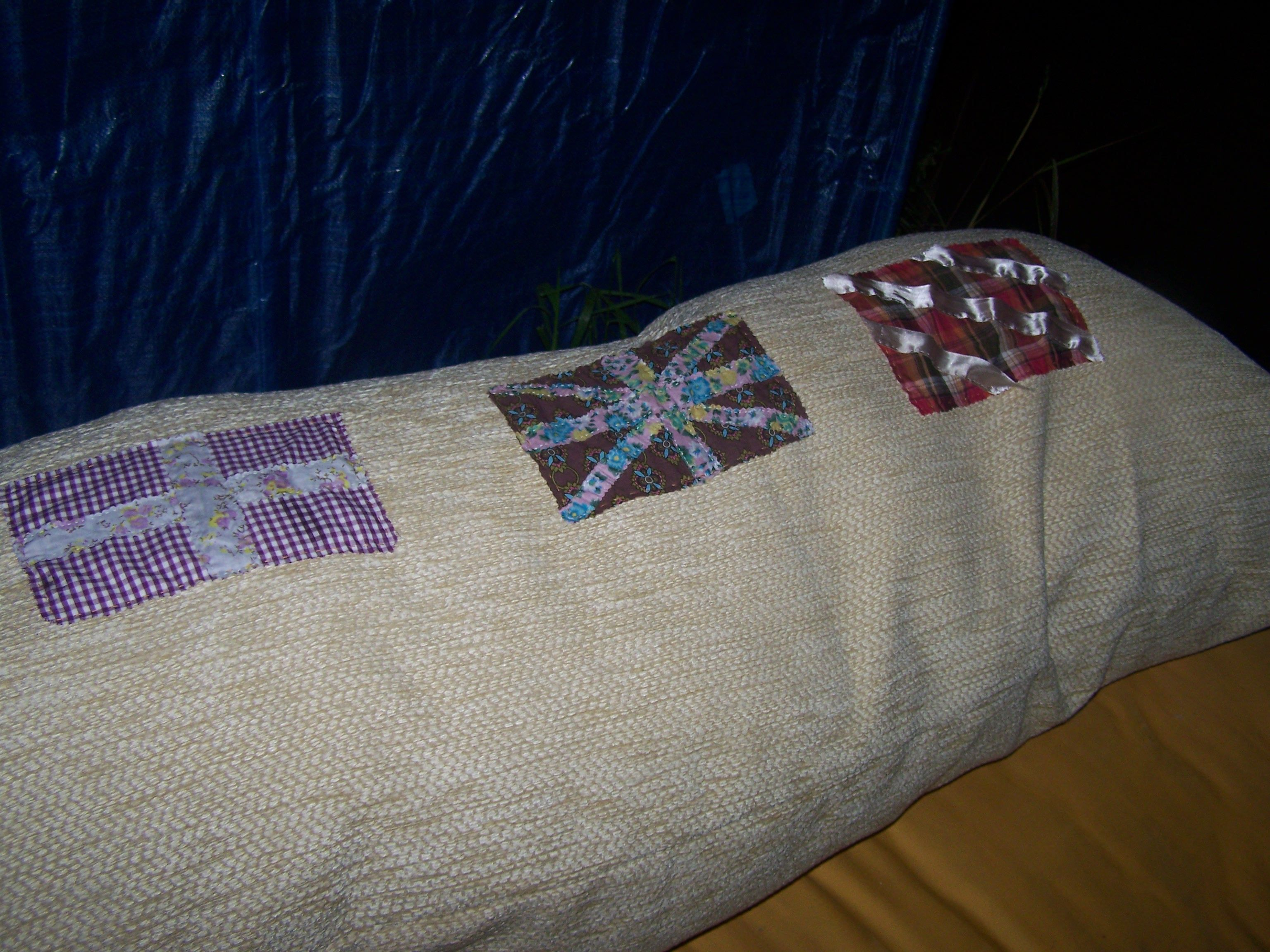 a cushion made for the garden, to go on the day-bed, commandeered by the daughter for her room!!!