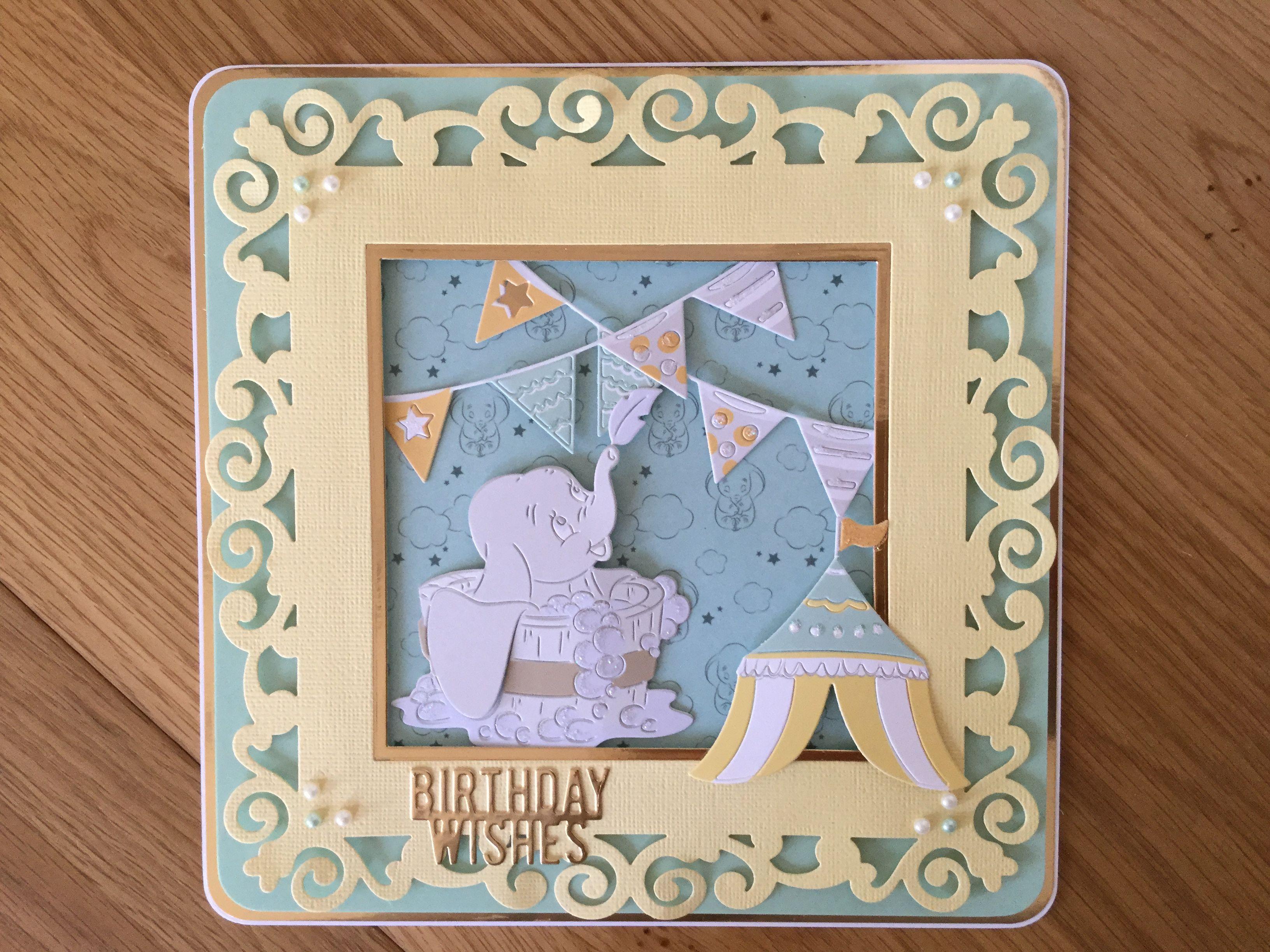 Disney Dumbo Birthday Card Disney Cards Kids Cards Disney Dumbo