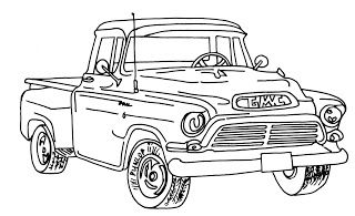 Instant Download - Vintage Truck - Printable Coloring Page ... | 195x320