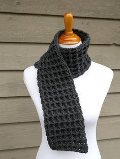 Waffle Stitch Charity Scarf- All Free Crochet. com- Free- 1 skein- worsted weight- ?
