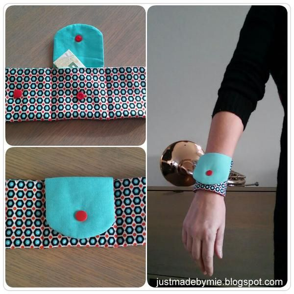 Make A Wearable Wrist Wallet Card Holder with KAM Snaps (Tutorial)