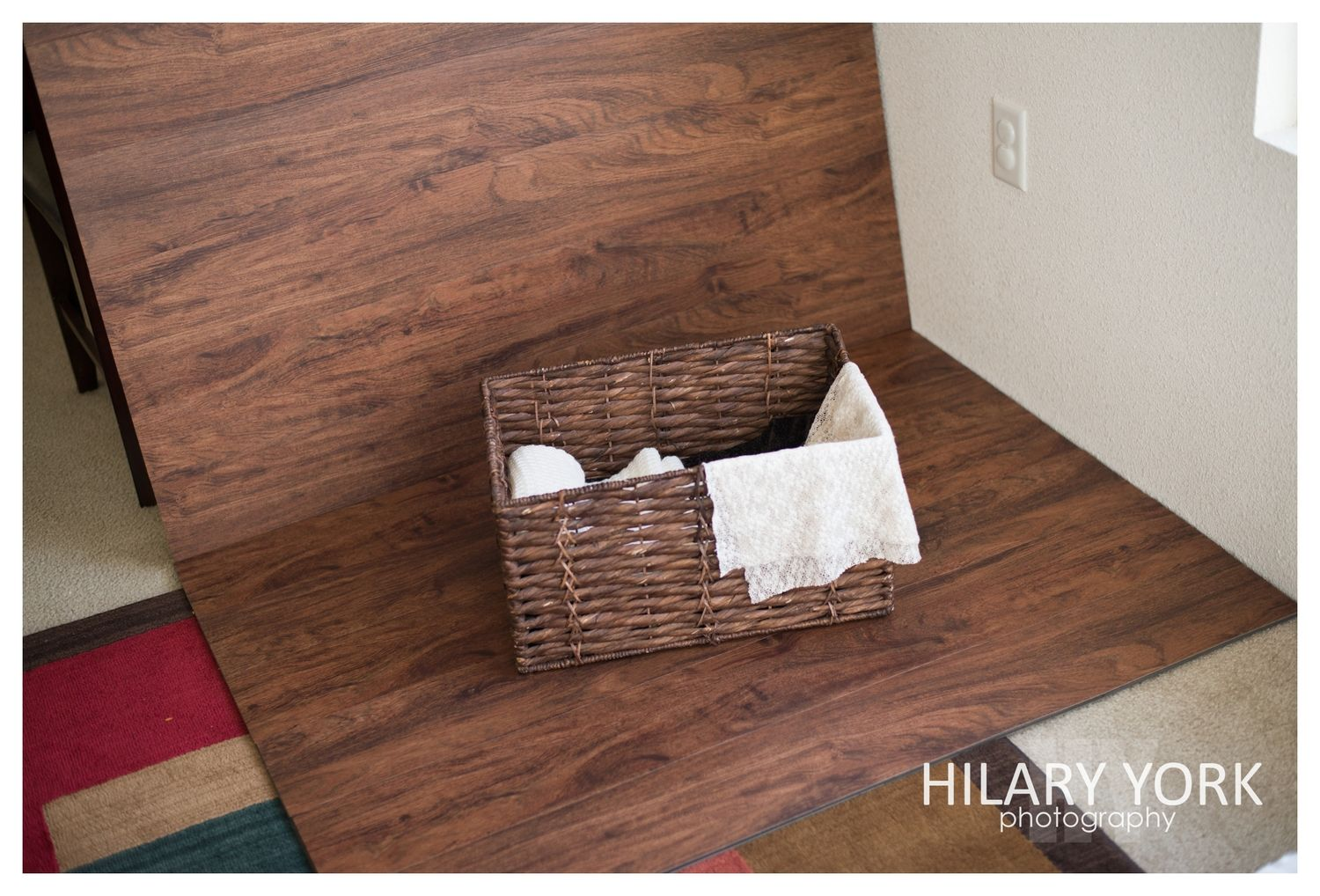 easy diy faux wood backdrop wood flooring newborn photography and backdrops. Black Bedroom Furniture Sets. Home Design Ideas
