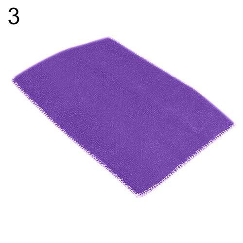 Dish Towel Dishcloth Bamboo Fiber Oil Washing Towels Scouring Pad Kitchen Gadget - Purple