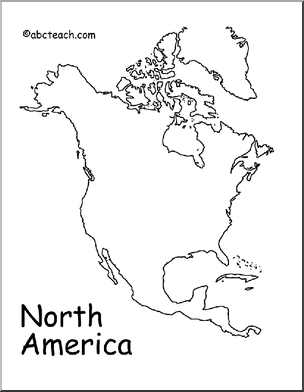 Map: North America (outline) - preview 1 | ASD Social Studies ...
