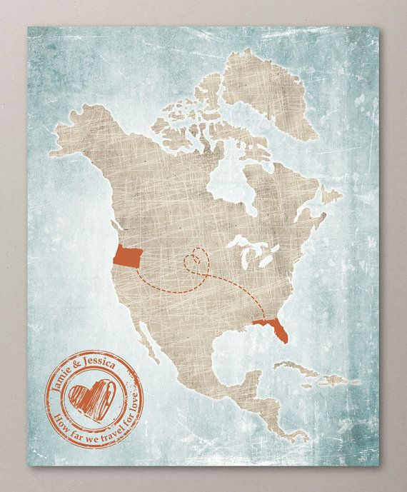 Customized vintage north american map art print 8x10 digital print customized vintage north american map art print 8x10 digital print personalized stamp banner gumiabroncs Image collections