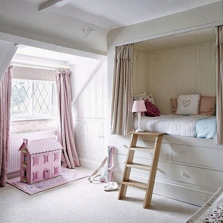 Loft bed ideas for girls' rooms