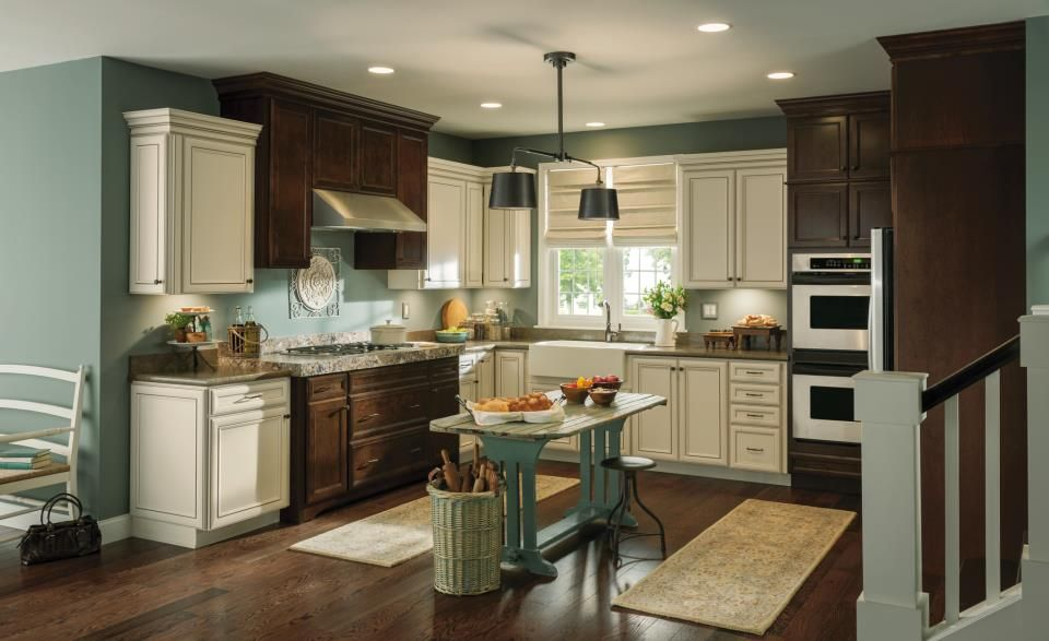 Two Toned Kitchen In Overton Toasted Antique Amp Wentworth