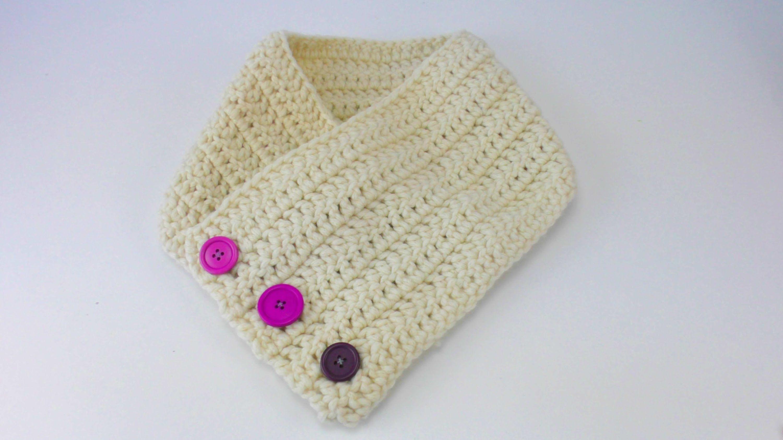 Knopfschal Häkeln Loop Schal übergang Winter Kinderschal Einfach