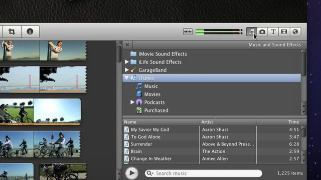 Imovie 11 Enhance Your Project Add Background Music Ask For Help Add Music Above And Beyond