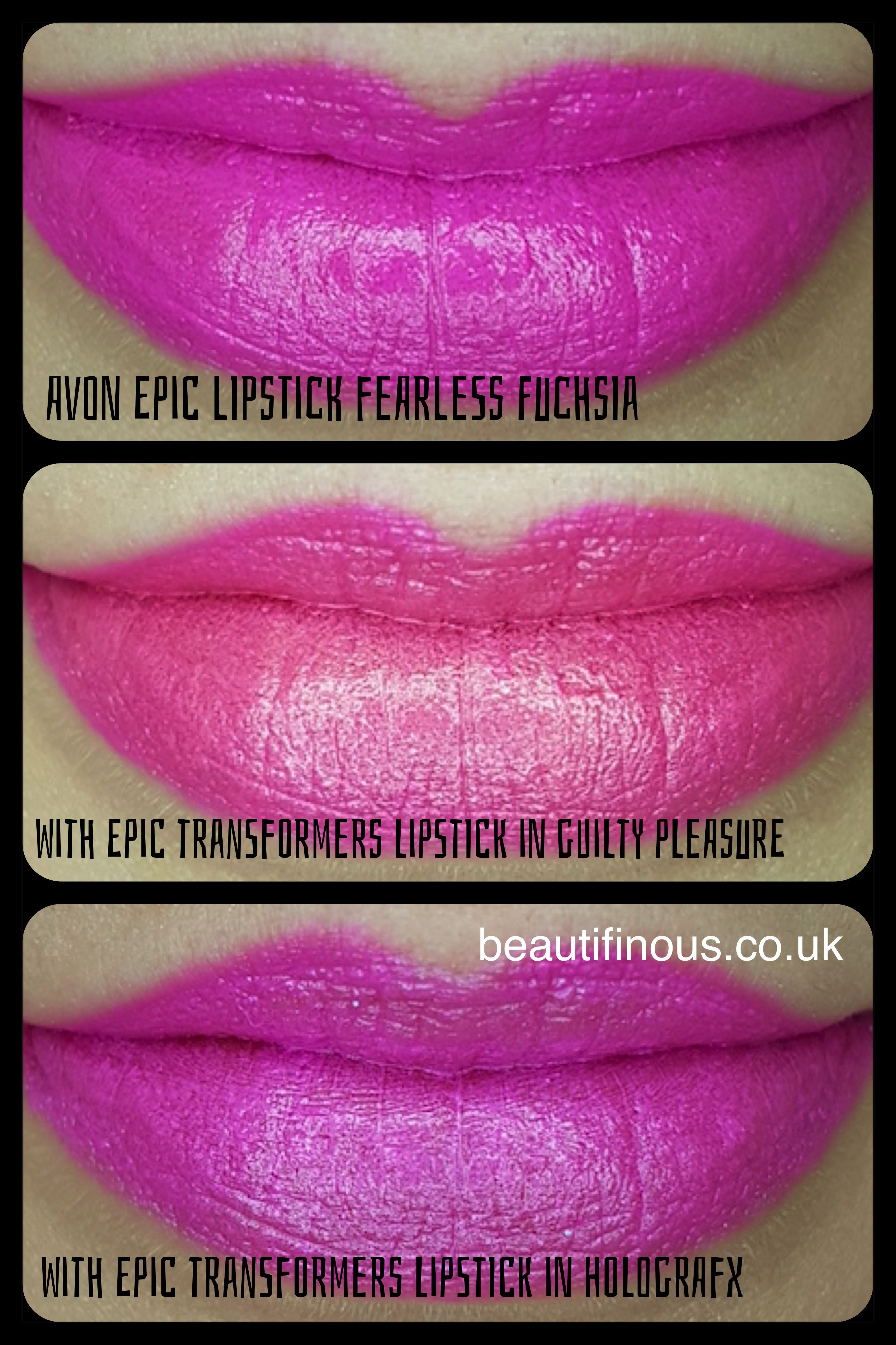 Avon Mark Epic Lipstick In The Shade Fearless Fuchsia With Two Of