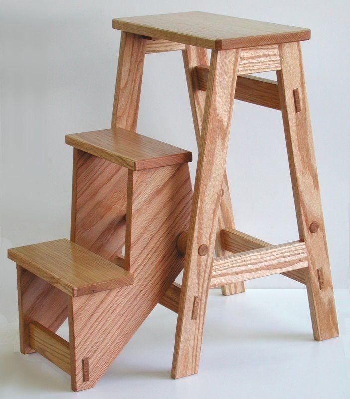 folding step stool handy for shop or home woodshop tip jigs rh pinterest com
