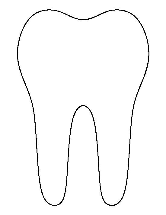 Tooth pattern. Use the printable outline for crafts, creating