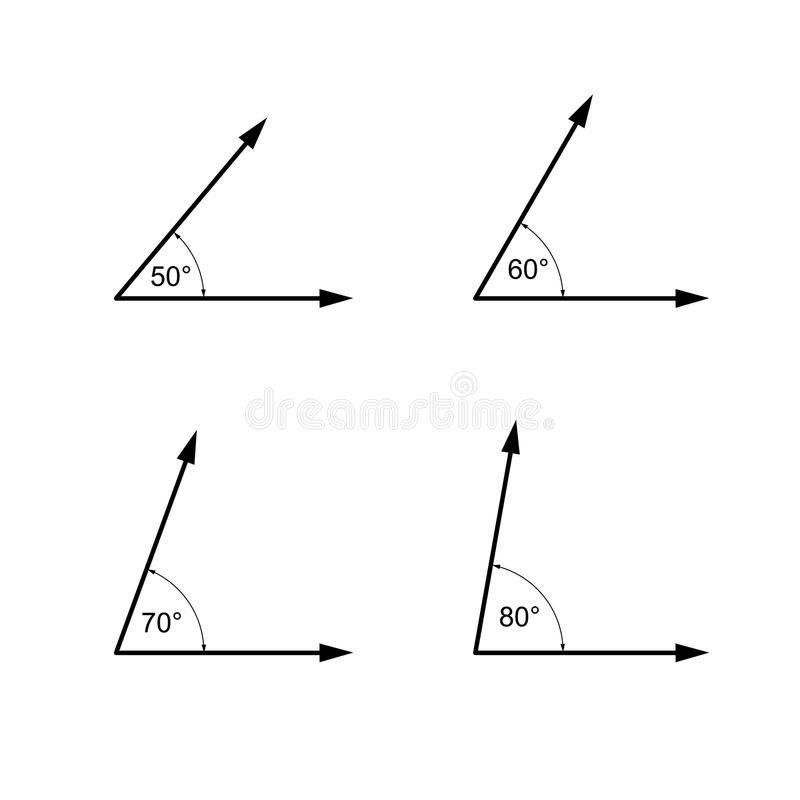 Los Angulos Los Grados Matematicas De La Geometria Firman Simbolos Libre Illustration Geometria Grado Matematicas