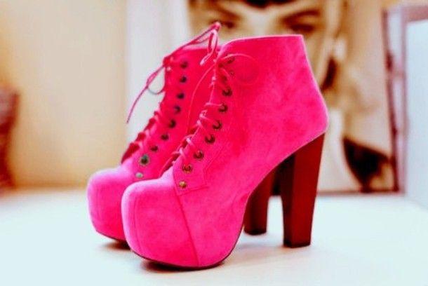 Fluro Pink Heels