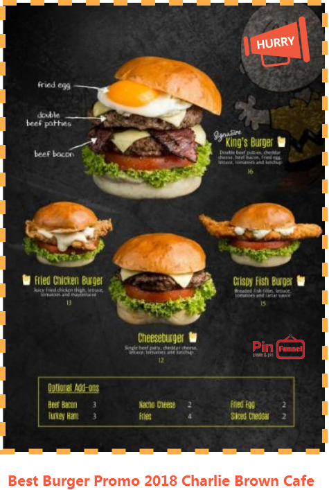 Singapore Best Burger Promotion 2018 At Charlie Brown Cafe Cineleisure Orchard Mall Now Check Out Over 70 Food And Beverage Halal Certified Cardapio Paletes