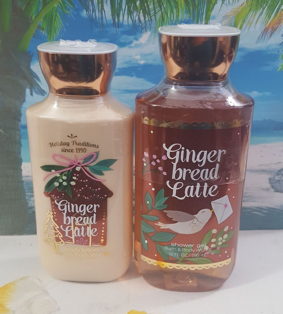 Bath And Body Works Gingerbread Latte Shower Gel And Body Lotion