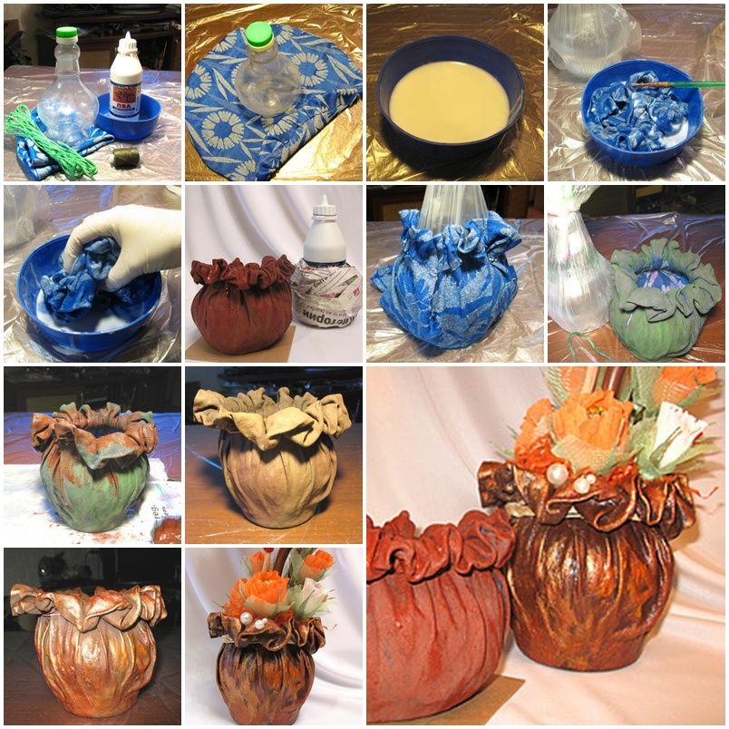 ... Cloth Pot Plant Step By Step DIY Tutorial Instructions, How To, How To  Do, Diy Instructions, Crafts, Do It Yourself, Diy Website, Art Project Ideas