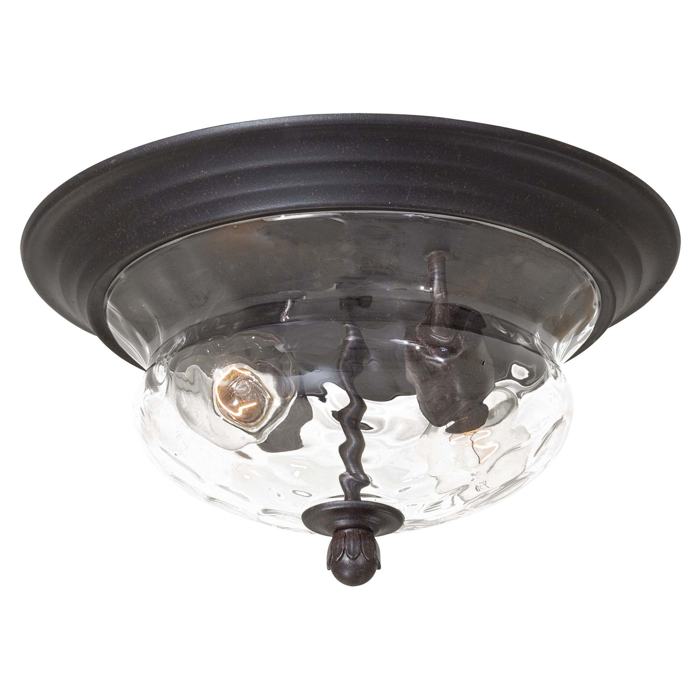 Great Outdoors By Minka Merrimack 2 Light Flush Mount Front Entry